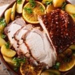 Brown Sugar Dijon Glazed Pork Loin