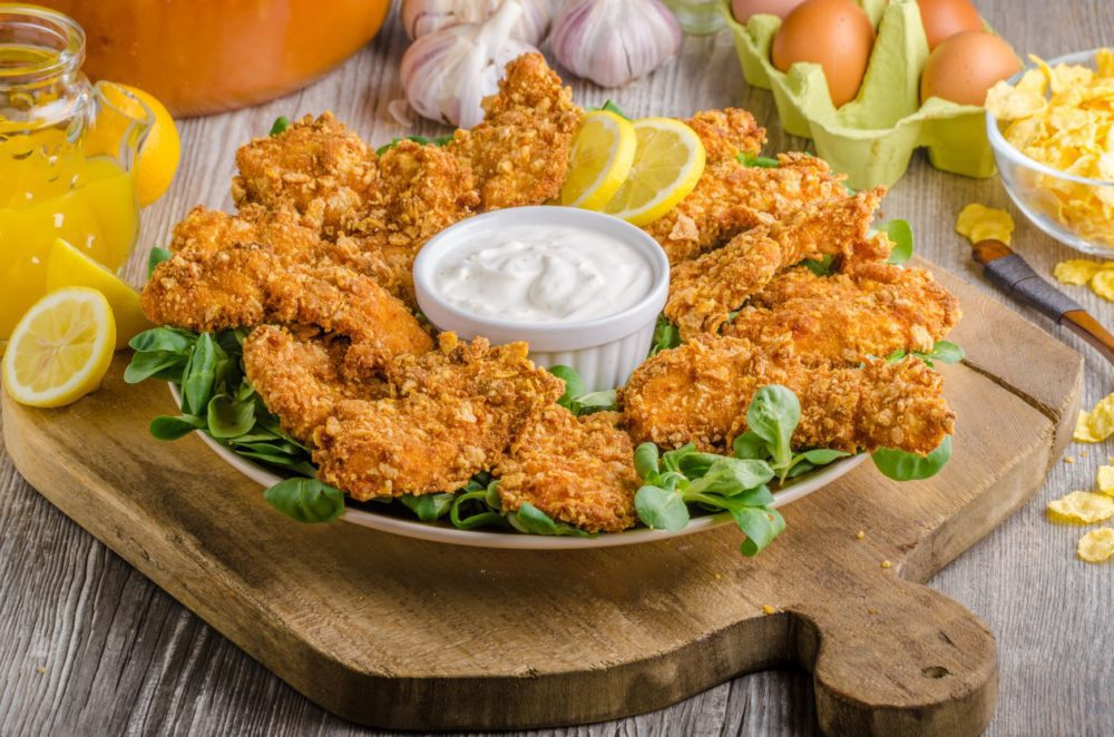 Crispy Baked Chicken Tenders With Mayo
